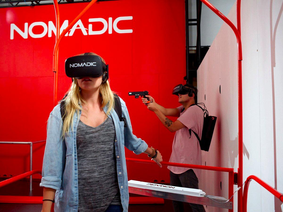 NomadicVRの没入型VRゲーム。
