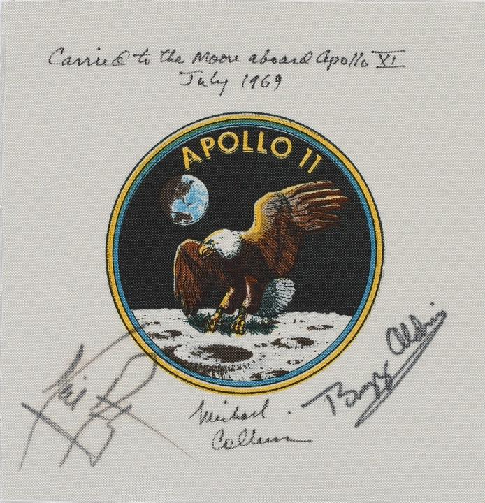 アポロ11号、司令船操縦士マイケル・コリン氏のサイン入りエンブレム