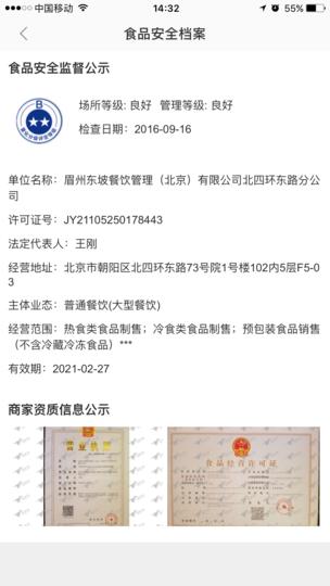 中国の食品許可証