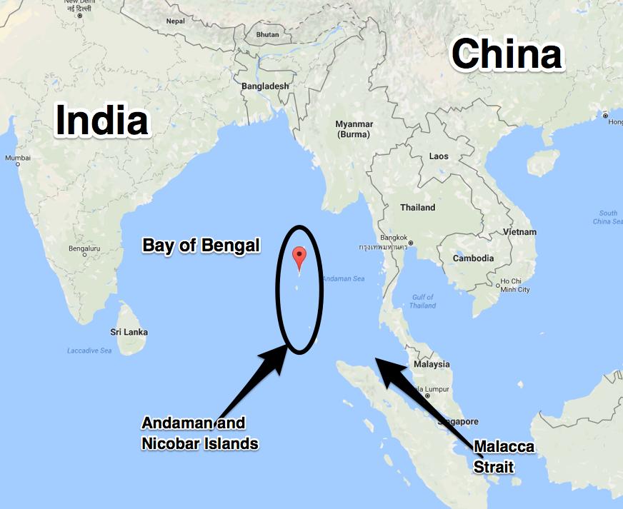 インド洋の地図