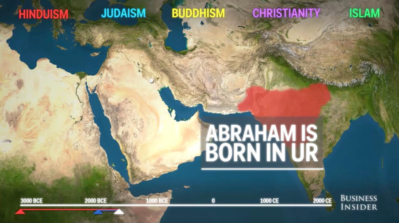 地図で分かる! 世界5大宗教の歴...
