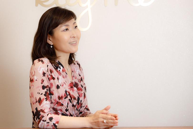 インタビューに答える毛見純子さん