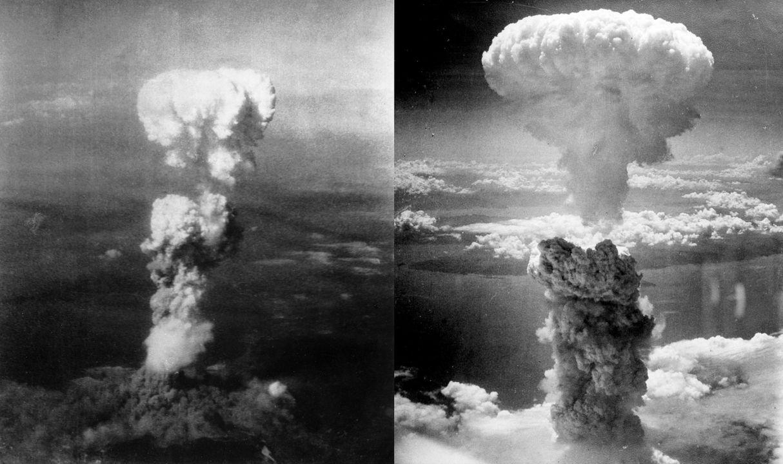広島と長崎に現れたキノコ雲