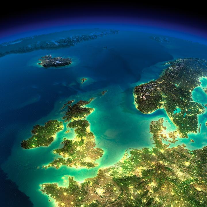 イギリス、アイルランド、アイスランド、グリーンランドなど