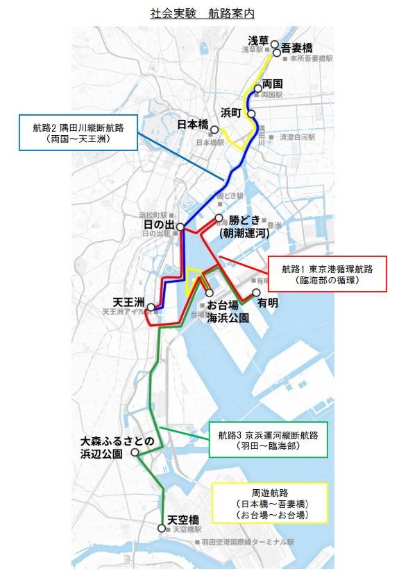 東京舟旅社会実験航路