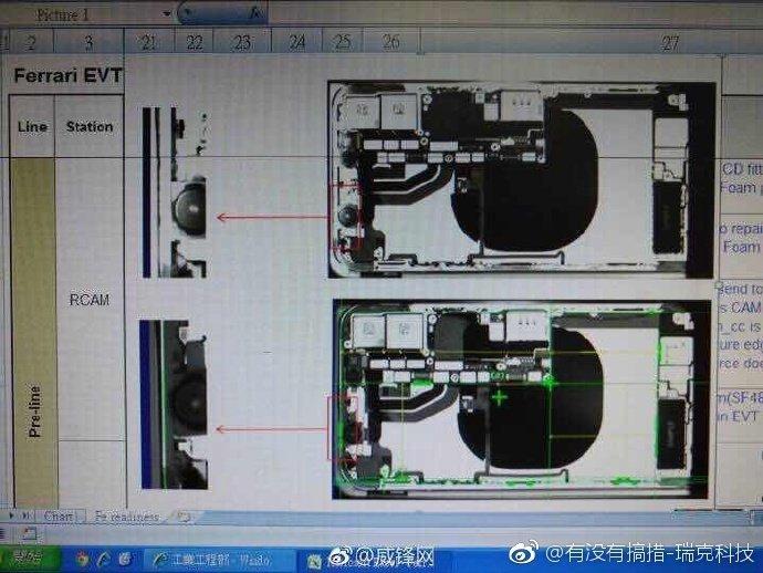 iPhone 8の内部構造写真