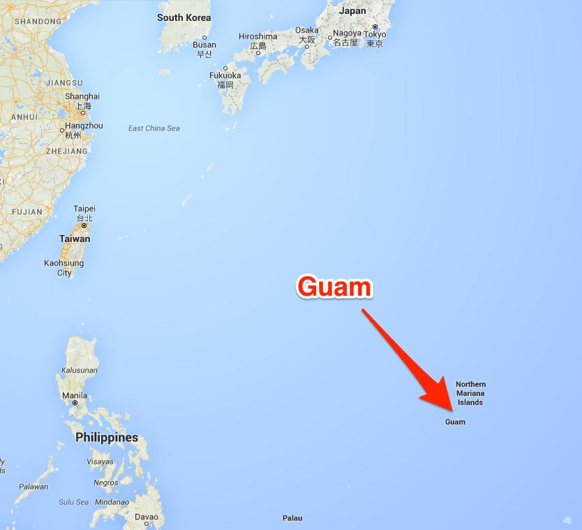 グアムの位置を表す地図