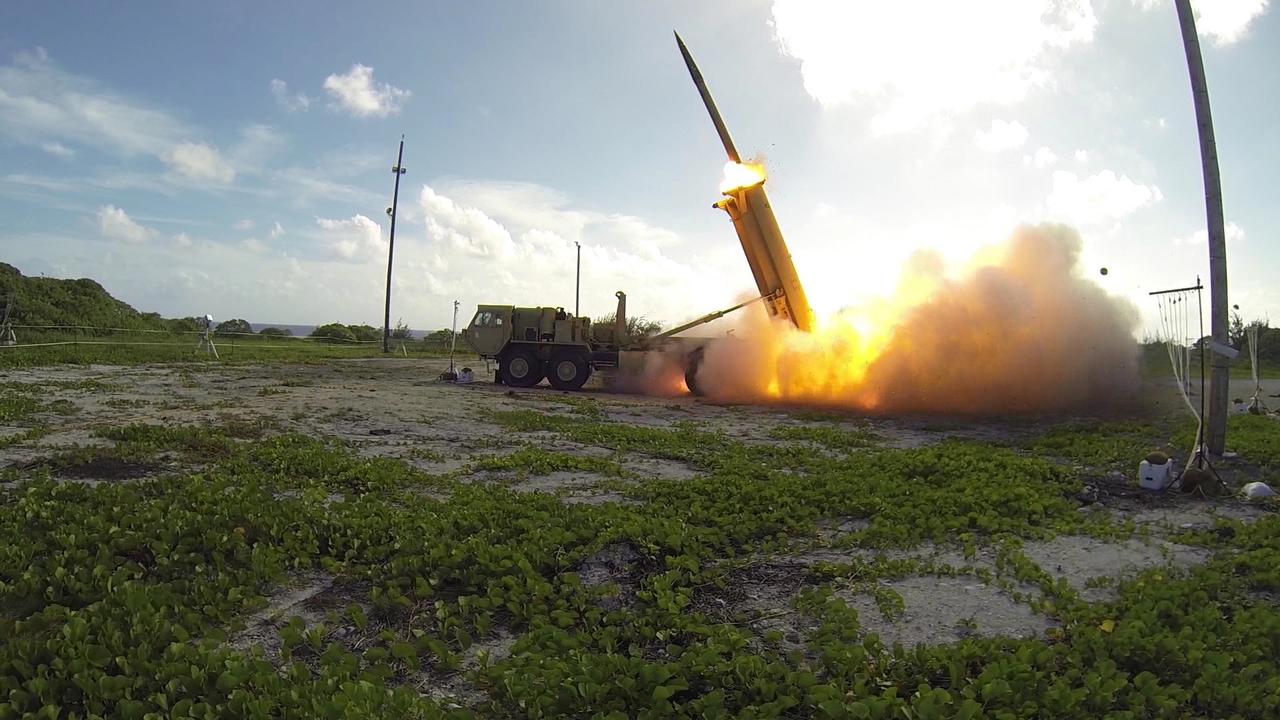 THAADミサイル発射中の様子