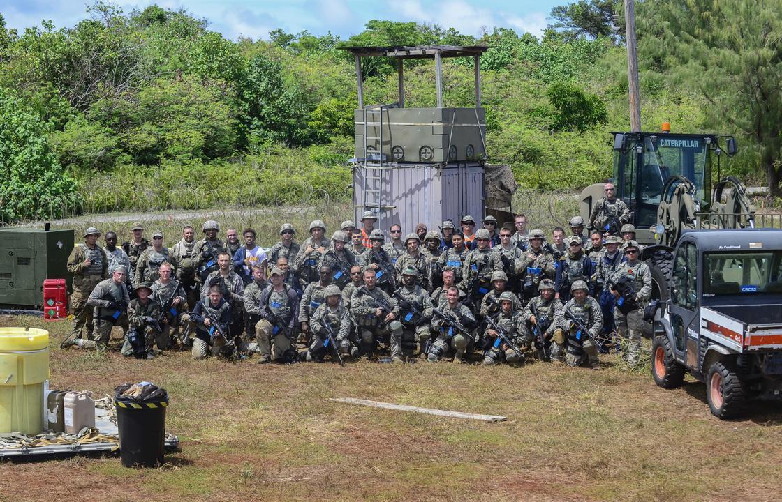 アメリカ軍兵士の集合写真