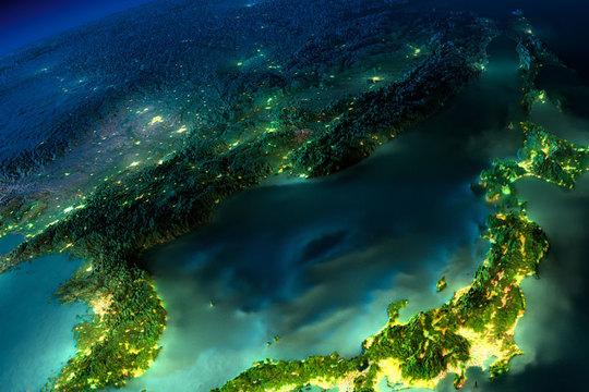 信じられないほど美しい夜の地球 —— でも、本物とはちょっと違う?