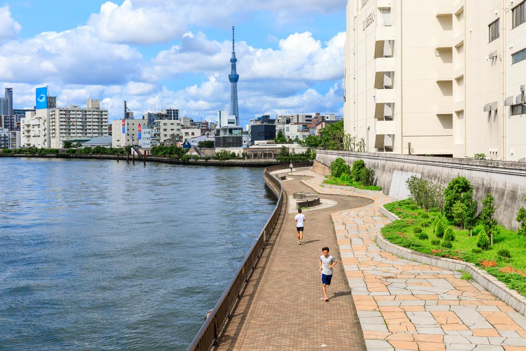 隅田川沿いのランニングルート