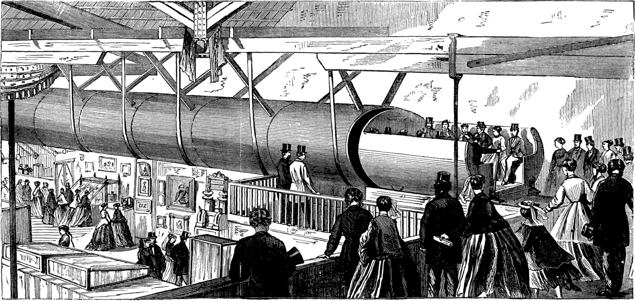 London Pneumatic Despatch社の地下鉄(イラスト)