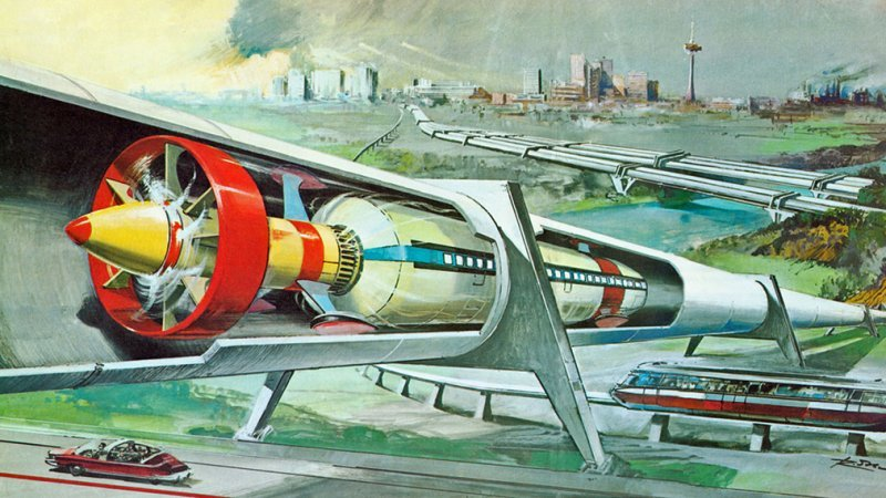 真空列車のコンセプト画