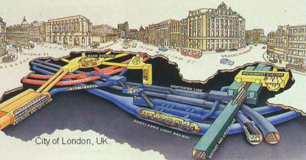 ロンドン地下のフードチューブズの構想図