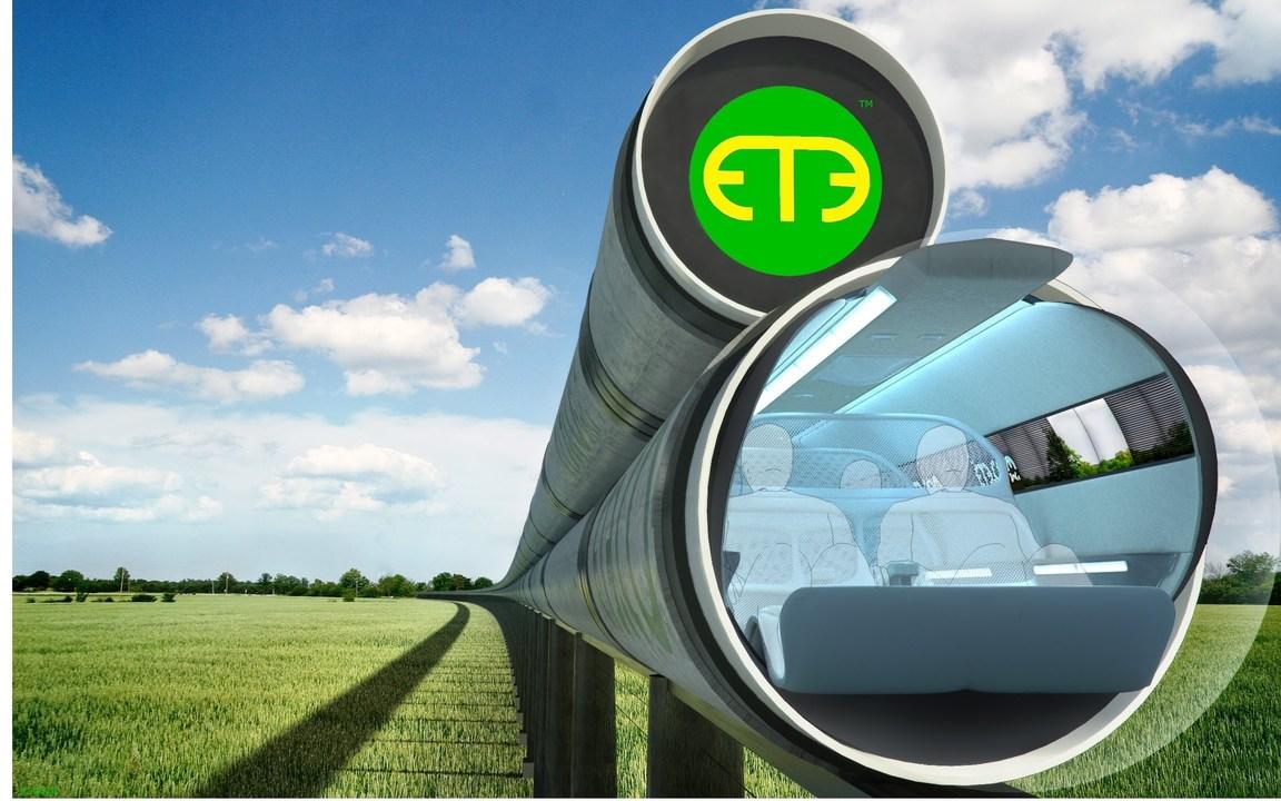 ET3の真空チューブ列車の構想図