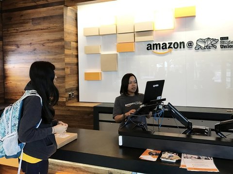 カリフォルニア大学バークレー校のアマゾン商品受け取り所
