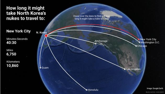 ニューヨークまで40分? 北朝鮮の核ミサイルは何分でアメリカに到達するのか