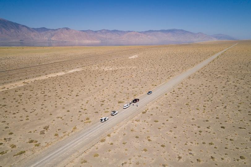 ネバダ州のテスト場の風景