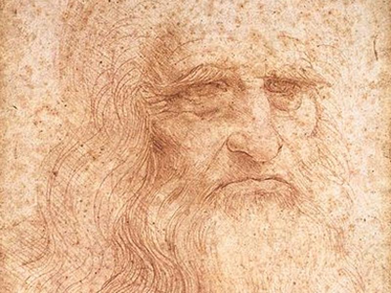 ダ・ヴィンチの自画像と考えられているスケッチ