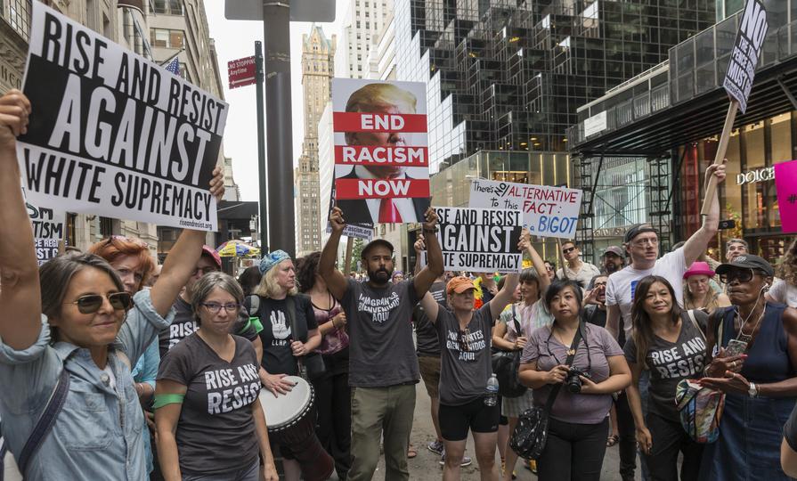 ニューヨークのデモ