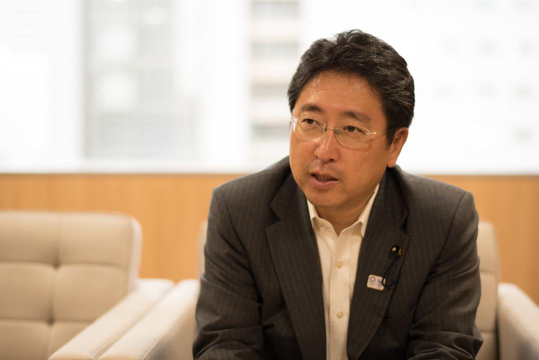 都民ファーストの会の増子博樹幹事長。