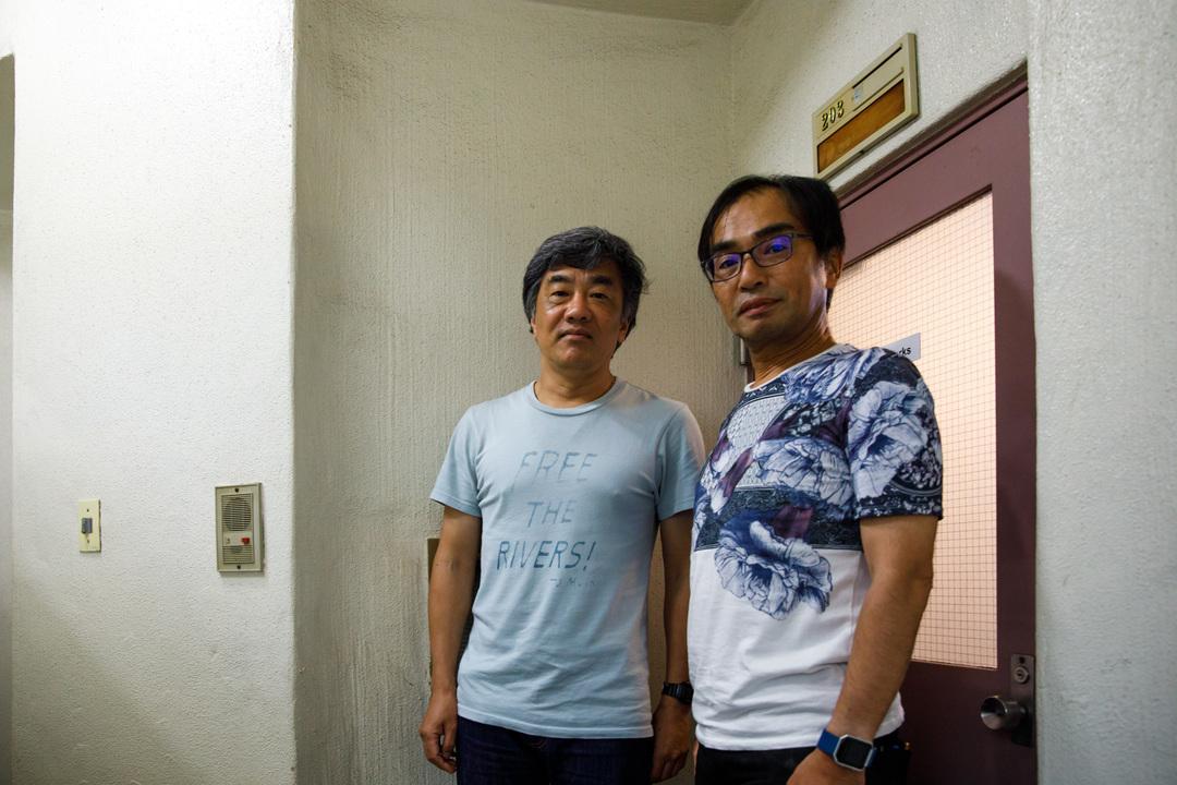 BPw社の中多広志社長(左)と、坂尻浩孝執行役員
