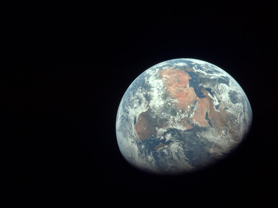アポロ11号がとらえたアフリカ大陸