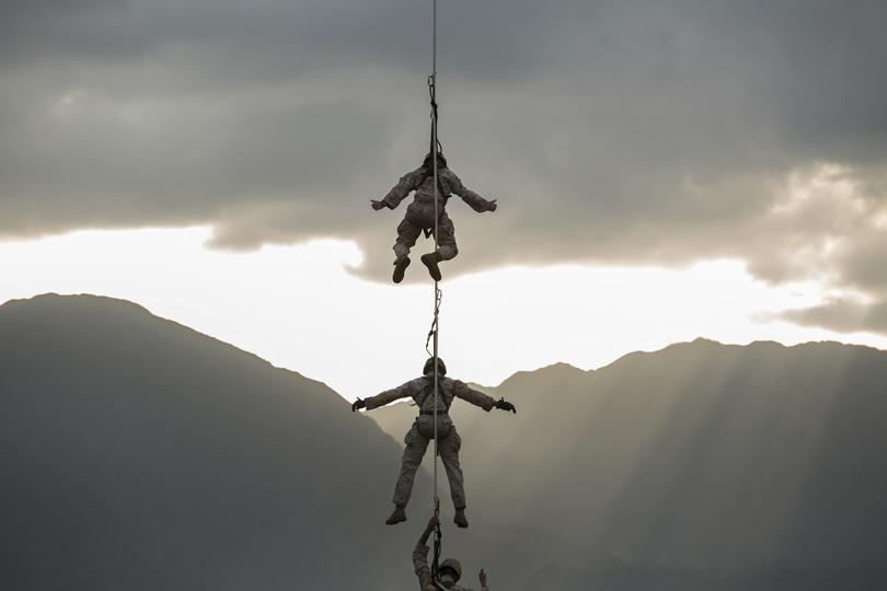 ハワイで演習中の海兵隊員