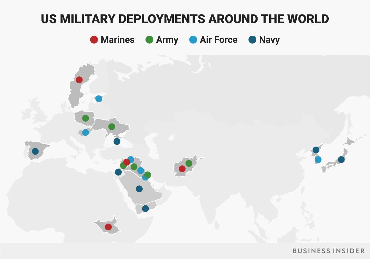 米軍全体の海外展開状況