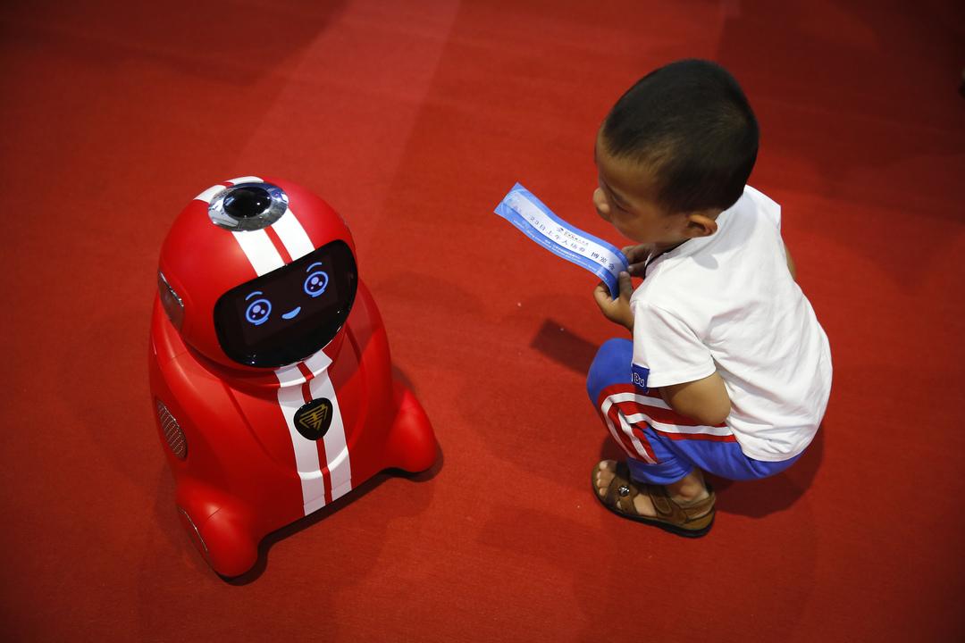 子どもとロボット