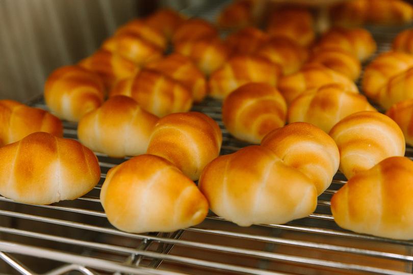 焼き立てのロールパン