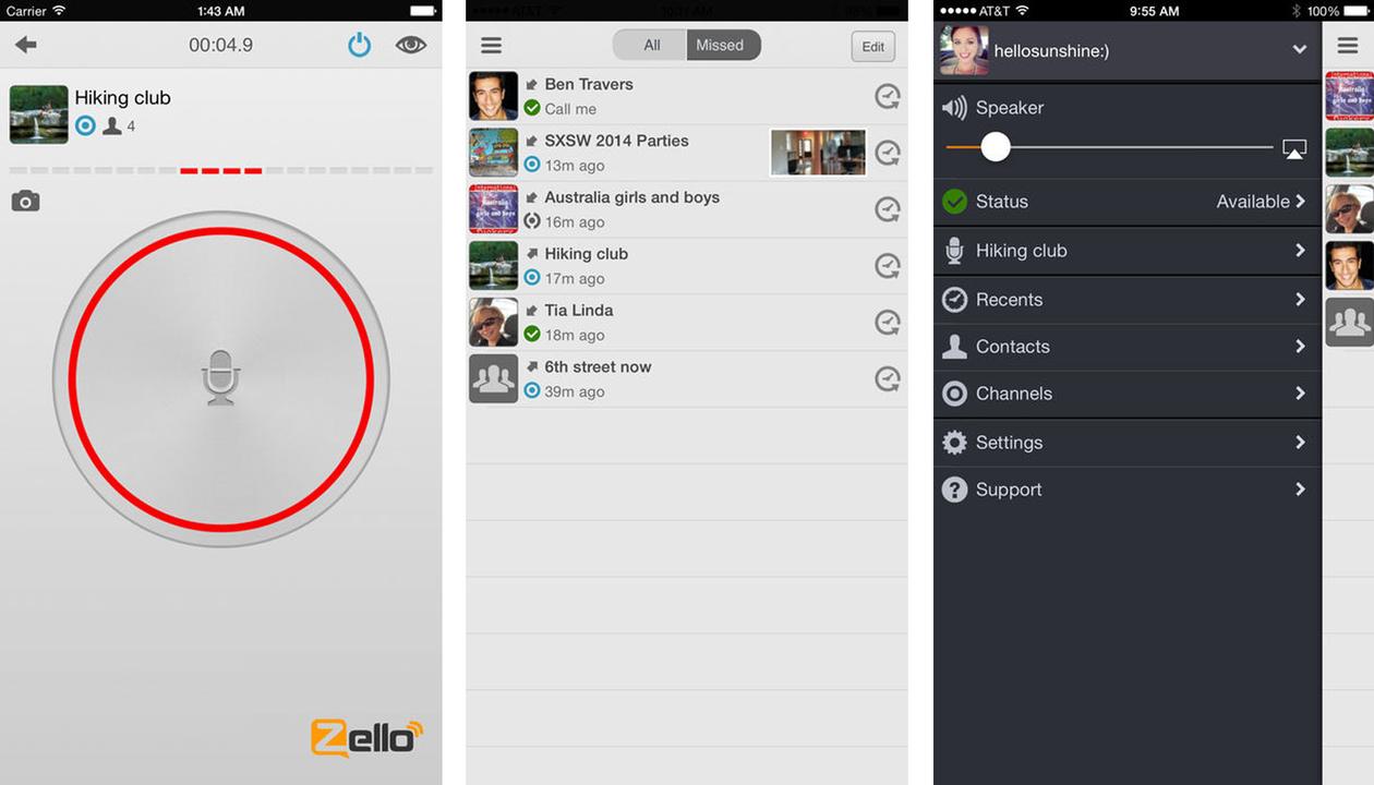 Zelloの画面