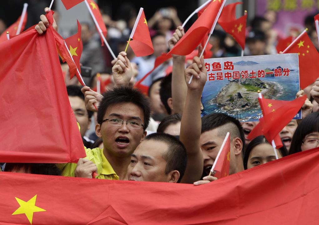 尖閣諸島(中国名:釣魚島)の国有化に抗議する反日デモ