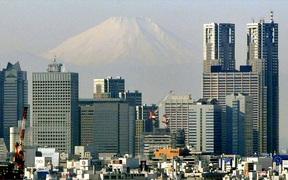 東京と富士山