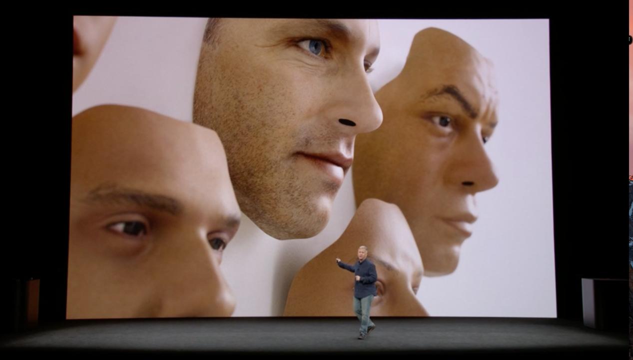 FaceIDのテストのために作られた顔のモデル