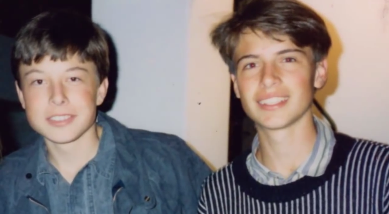 Musk and his brother, Kimbal