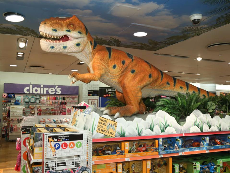 店内の恐竜