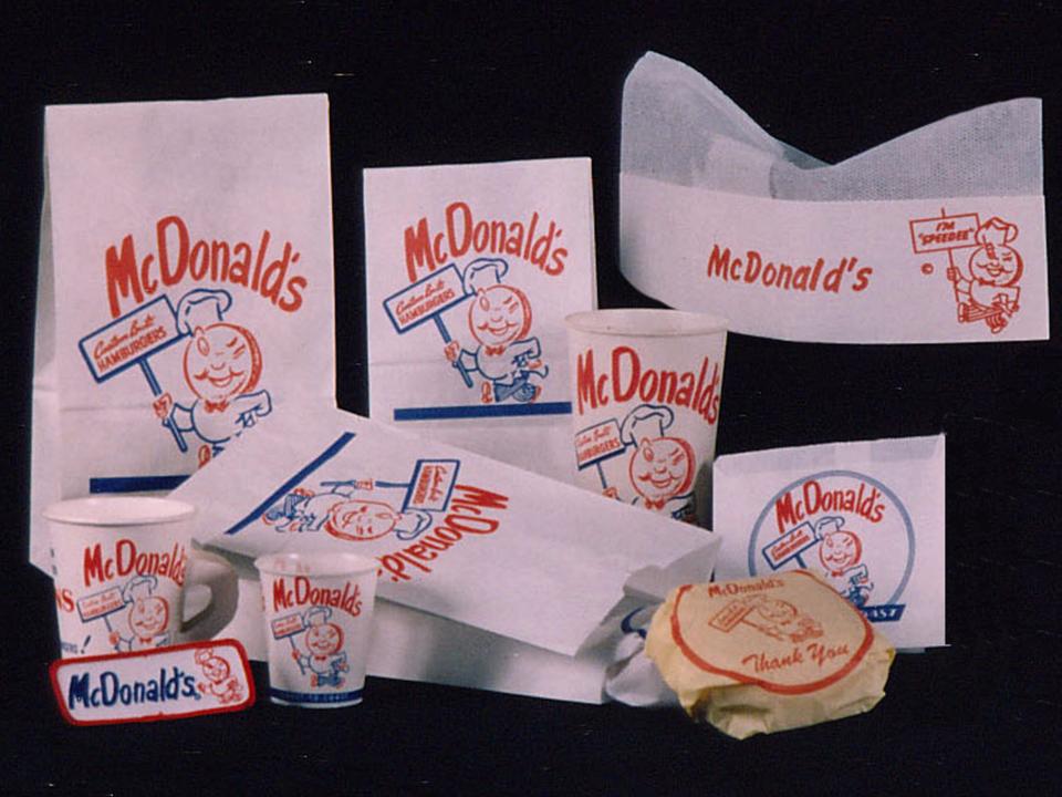 マクドナルドの昔の包装紙