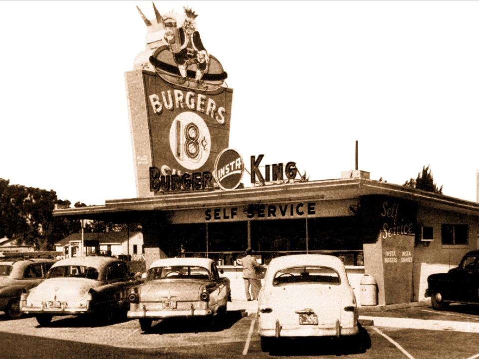 バーガーキングの昔の店舗