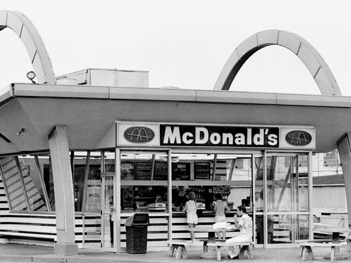 マクドナルドの昔の店舗