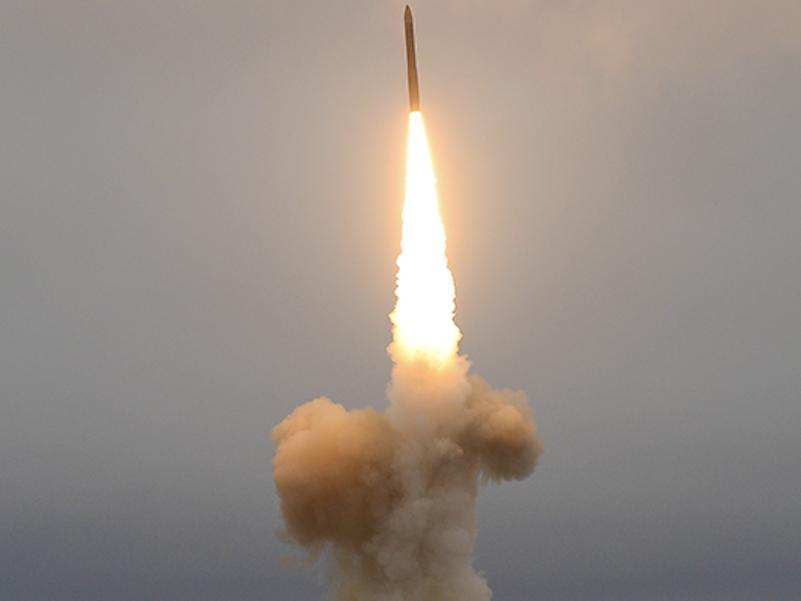 ICBMの発射風景