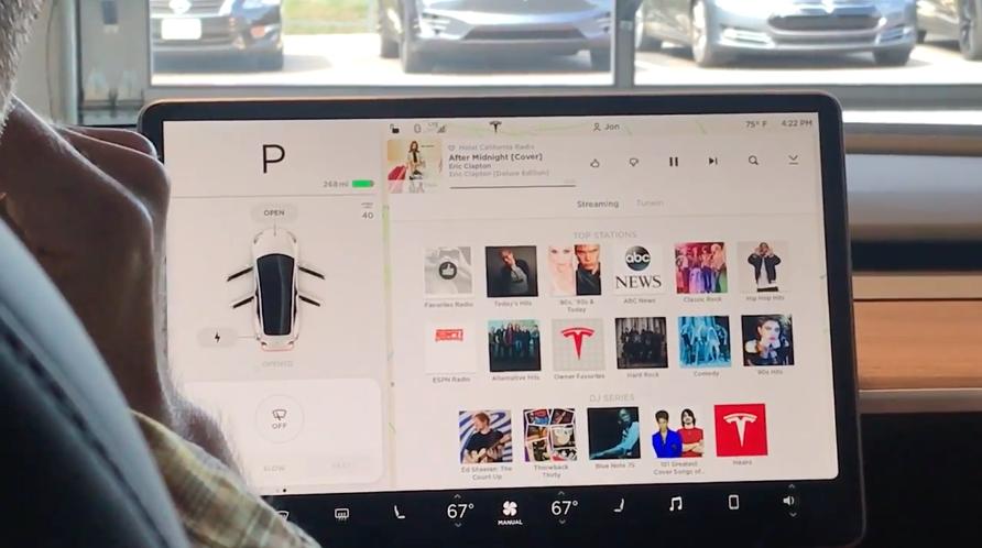 Model 3のタッチスクリーン