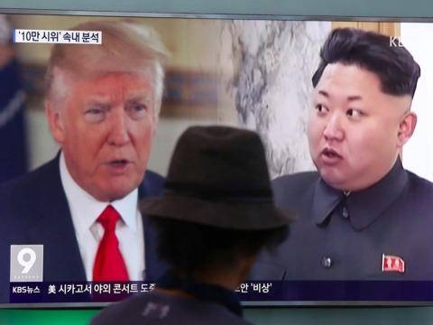 トランプ大統領と金正恩氏