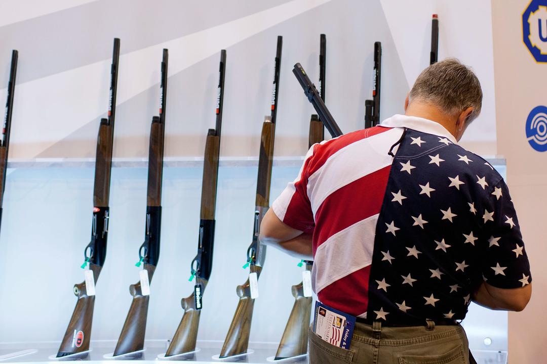 展示された銃