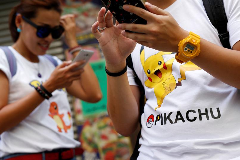 pokemon goで遊ぶ人