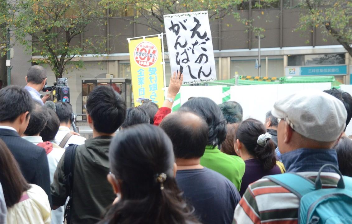 枝野氏の街頭演説