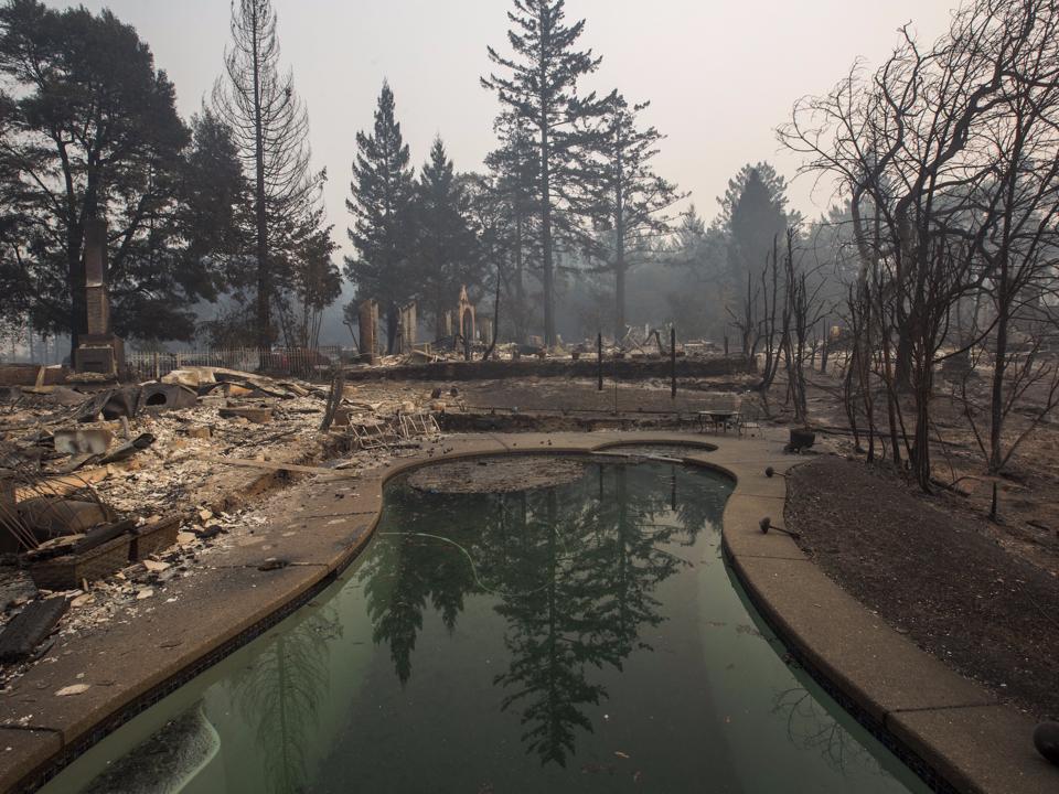 サンタローザ全域の焼け野原