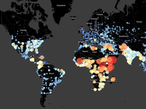 日本は大丈夫? 地図で見る、崩壊しそうな世界の都市