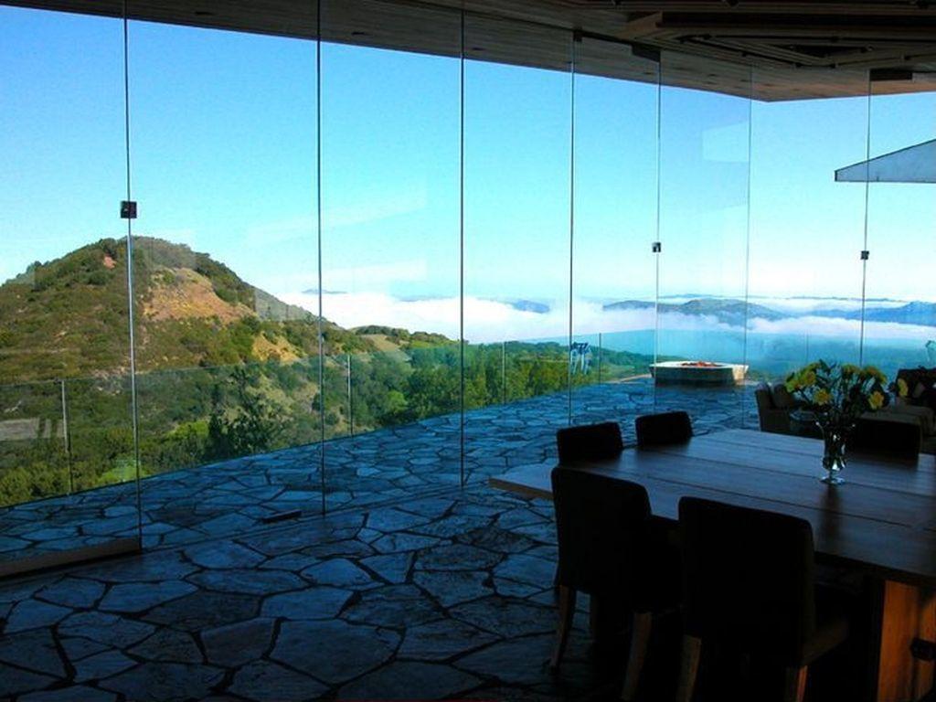 グラスハウスの窓からの眺め