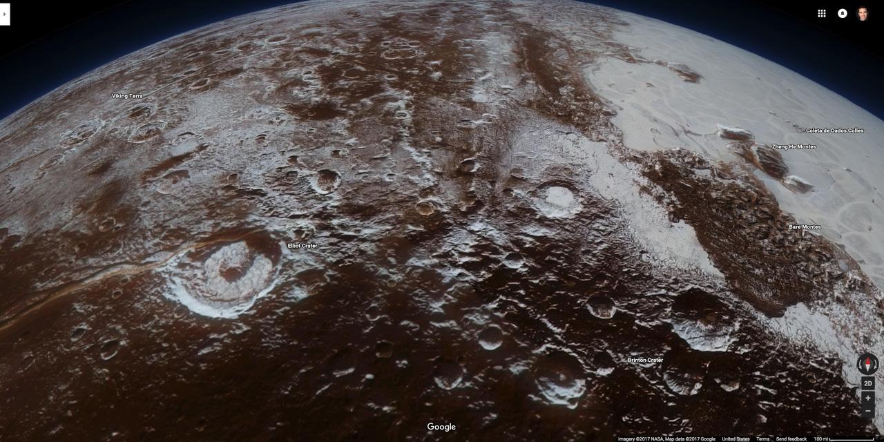 冥王星のアップ